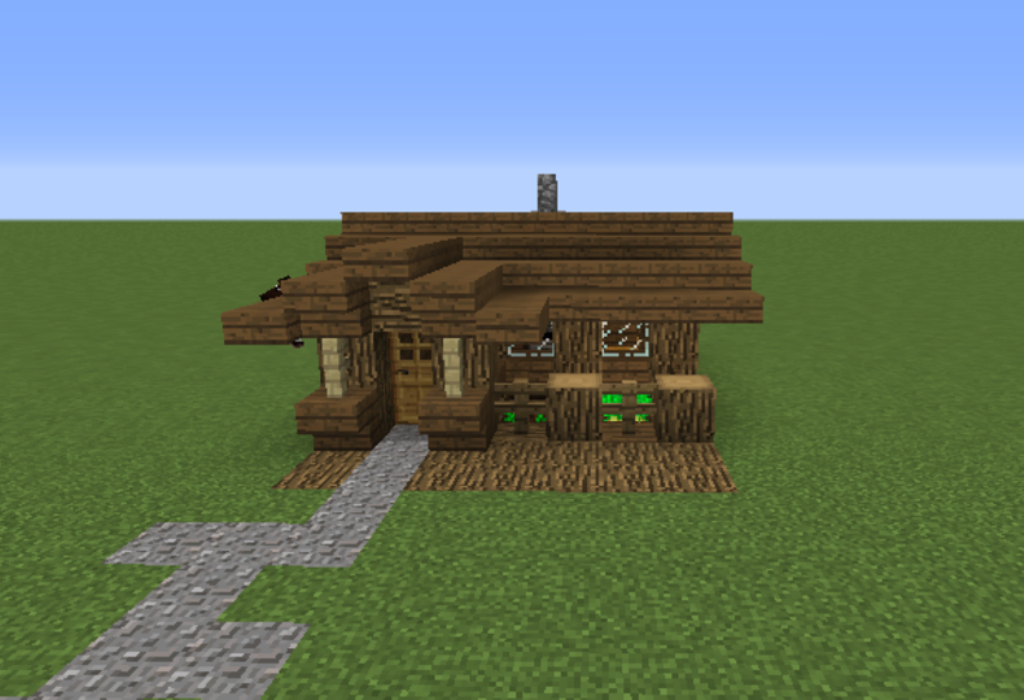 Minecraft Village Small House Blueprints (With images ...