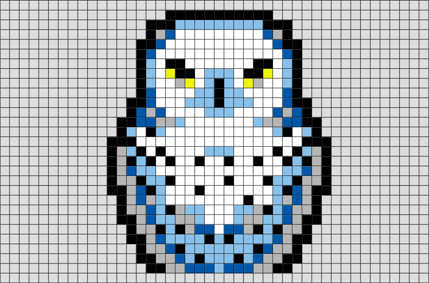 Harry Potter Hedwig Pixel Art Pixel Art Minecraft Pixel