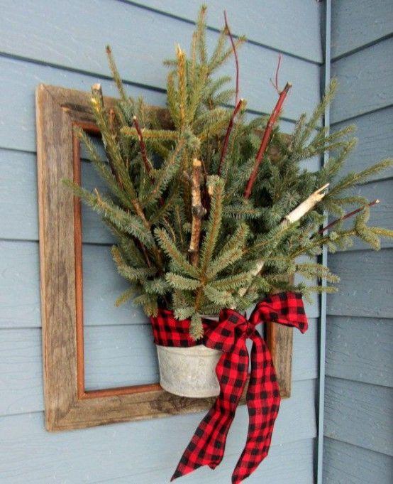 Comfy Rustic Outdoor Christmas Decor Ideas Christmas decor - christmas decorating ideas
