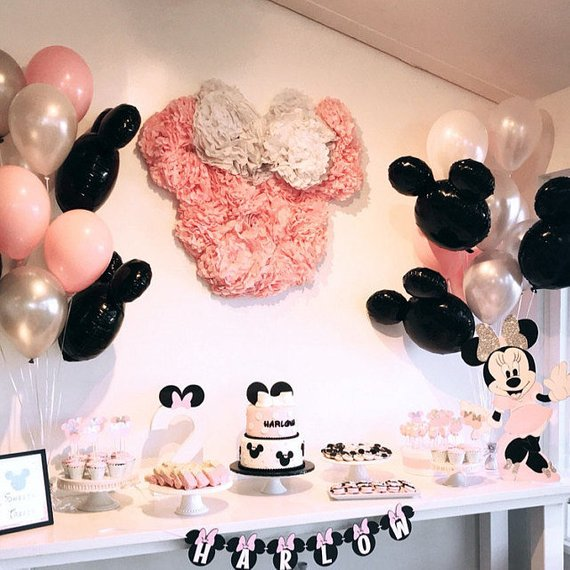 Minnie Pom Kit Wall Decoration | Minnie Mouse Party Decorations
