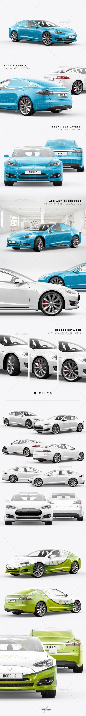 Model S Electric Car Mockup Electric cars, Mockup, Car logos