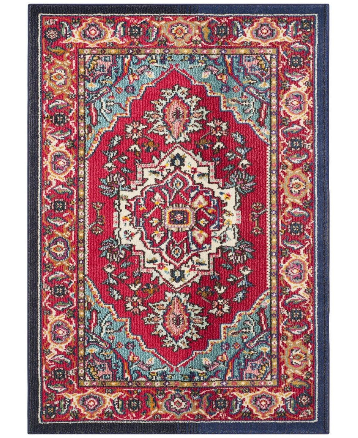 Safavieh Monaco Red And Turquoise 10 X 14 Area Rug Reviews Rugs Macy S Rugs On Carpet Classic Rugs Rugs