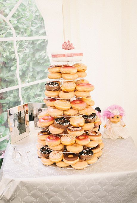 Nontraditional Wedding Cake Ideas Donut tower Krispy kreme and