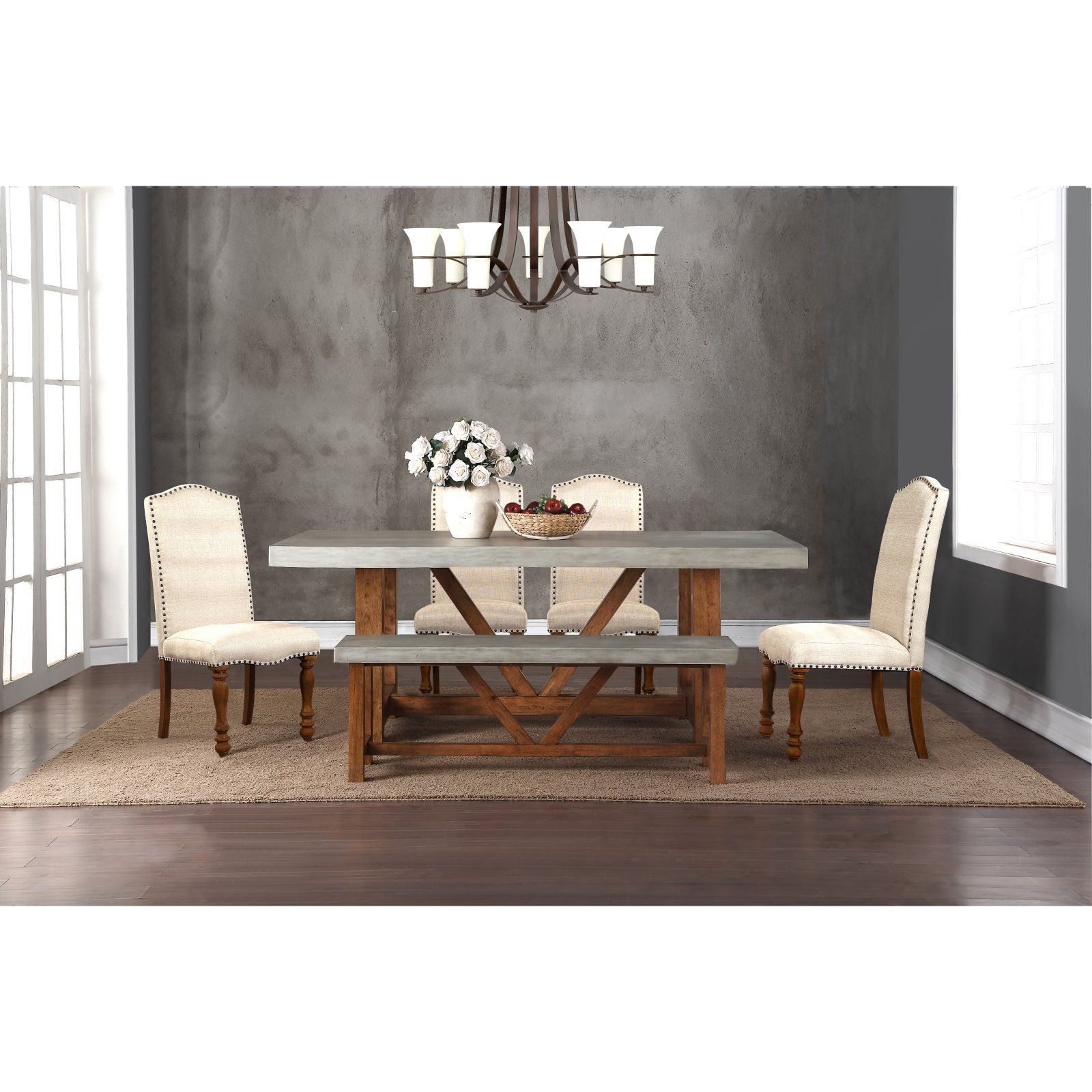 Legends Furniture Bohemian 42 X 78 In Cement Dining Table