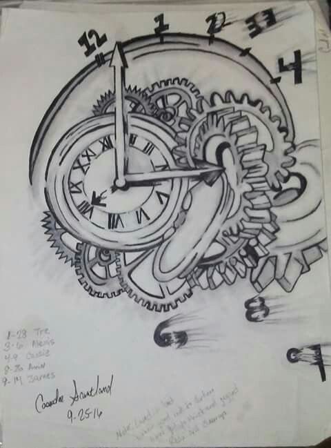 Clock Gears Diagram Gear System And Clock