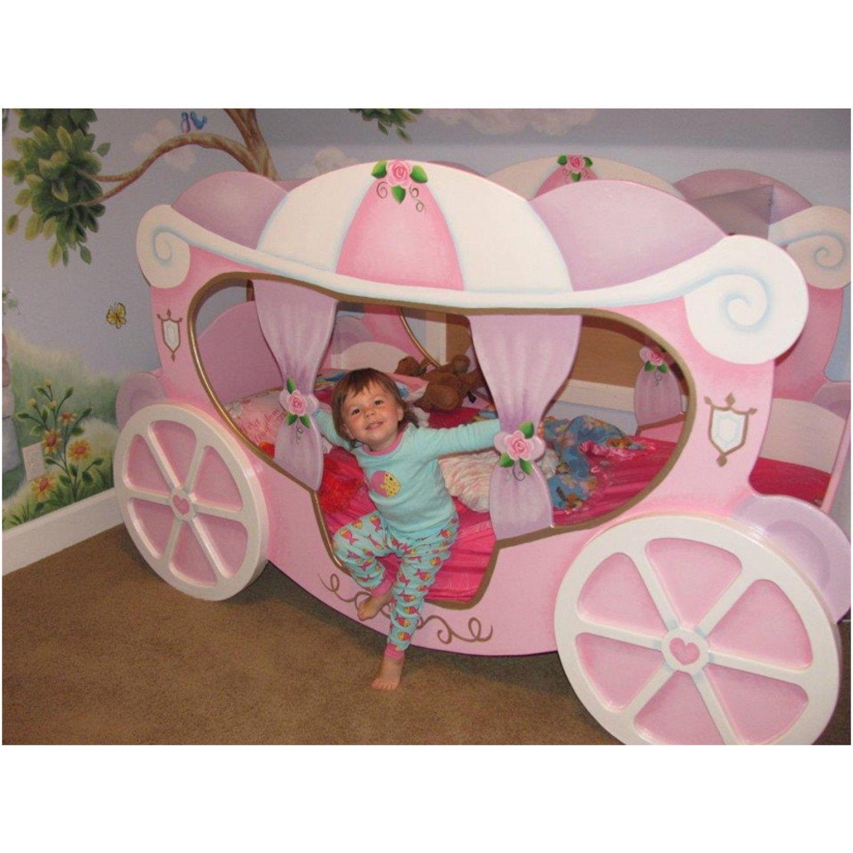 Princess carriage toddler bed - Princess Bed Home Princess Carriage Bed Cinderella Coach Bed Petite