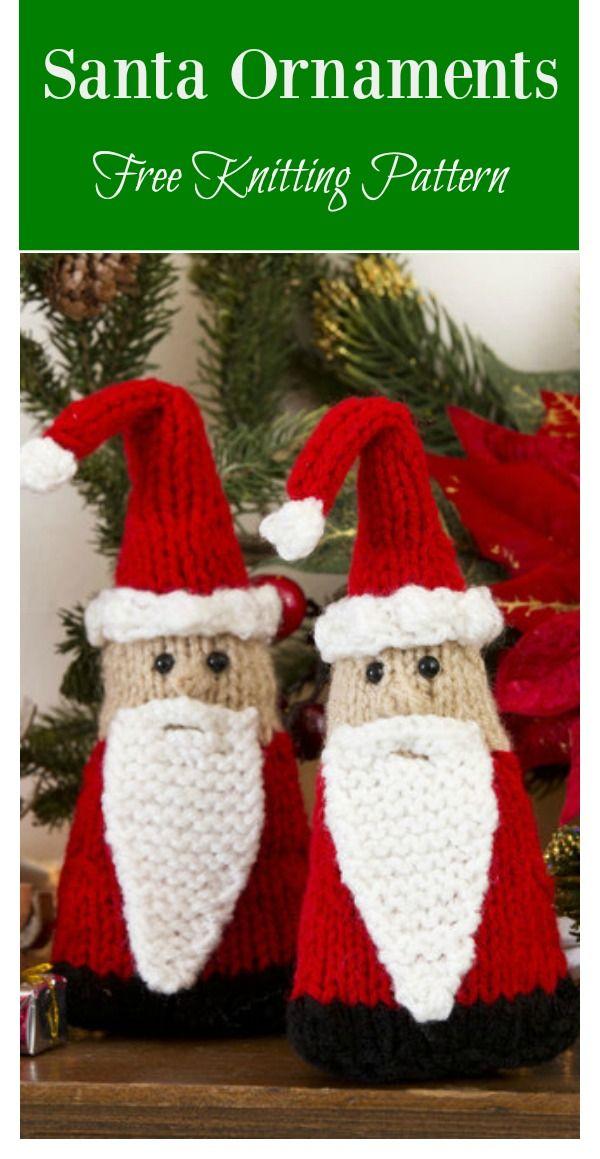 Christmas Santa Free Knitting Pattern | Knitted christmas ...
