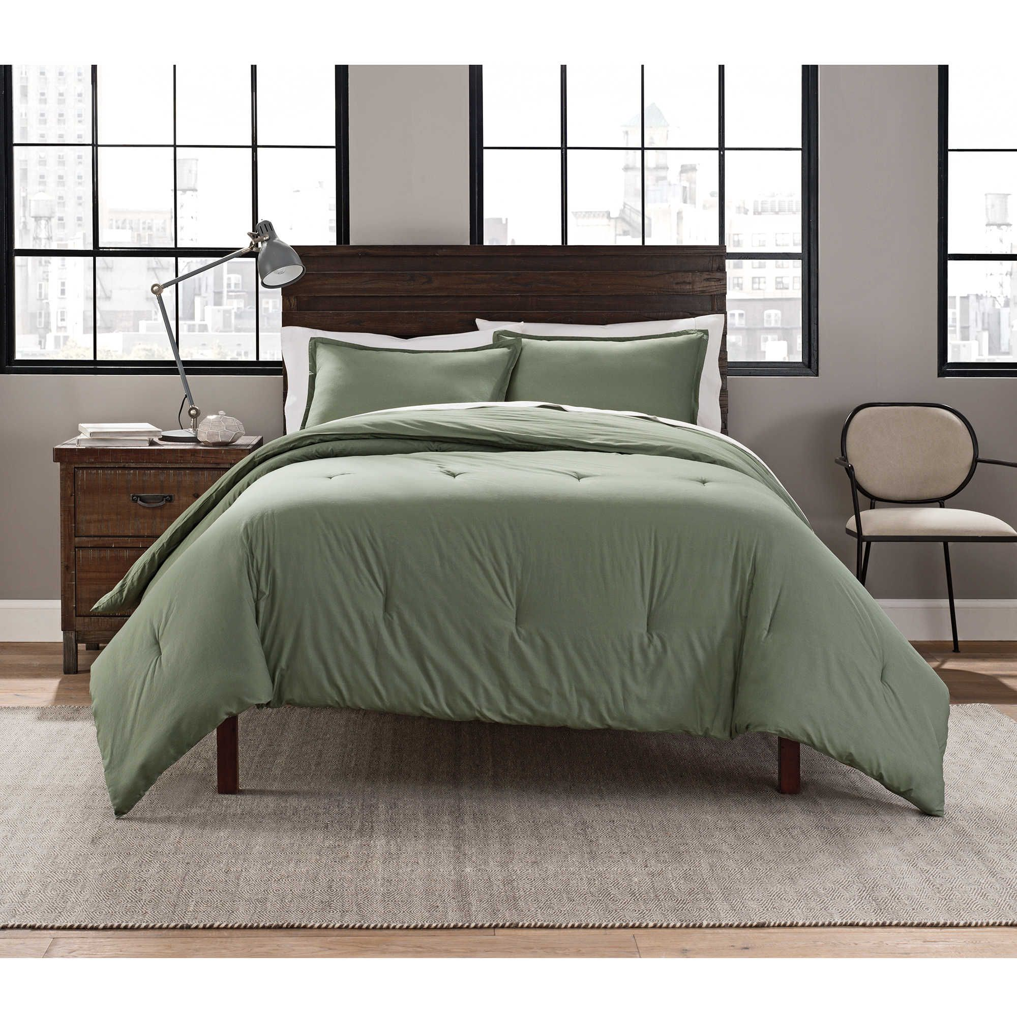 Garment Washed Solid Comforter Set Queen comforter sets