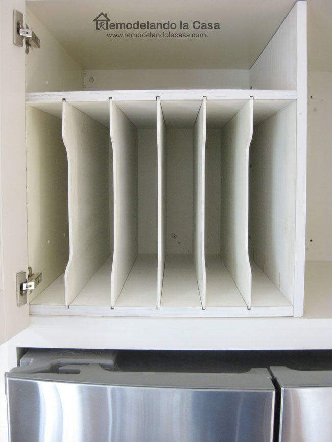 Diy Above Fridge Tray Divider Diy Cupboards Kitchen Storage Solutions Diy Kitchen Storage