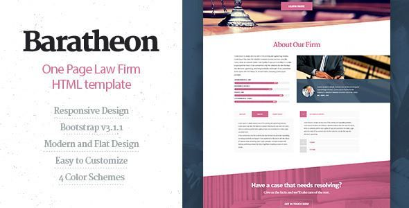 ThemeForest - Baratheon - One Page Law Firm HTML Template Free ...