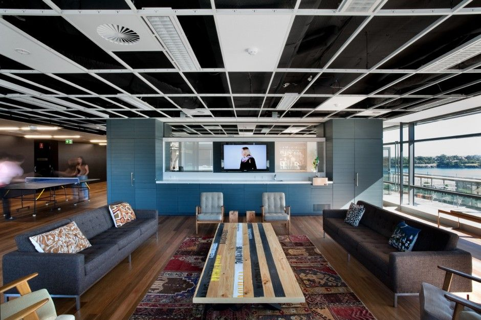 creative office ceiling. Contemporary Ceiling I Love An Office Space That Feels Homey Too The Leo Burnett Office  Interior By HASSELL In Creative Ceiling
