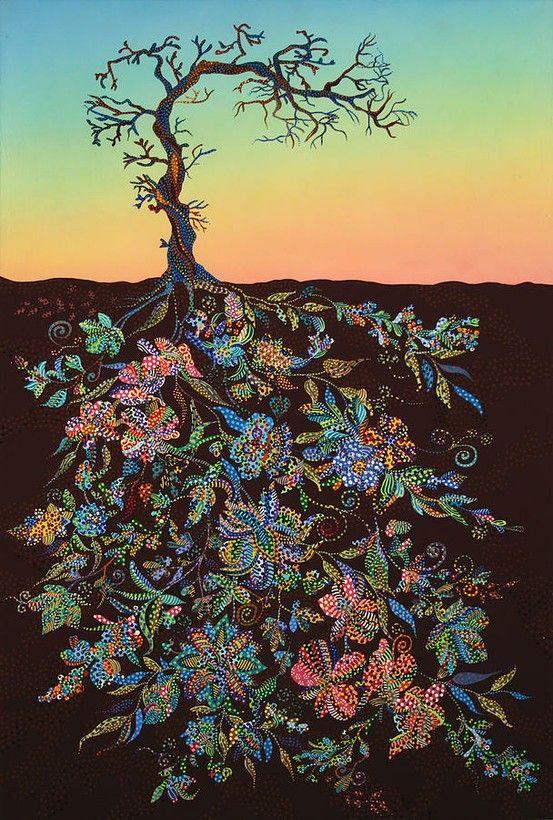 """Sunset"" - Painter Erika Pochybova-Johnson http://www.ebova.com/"