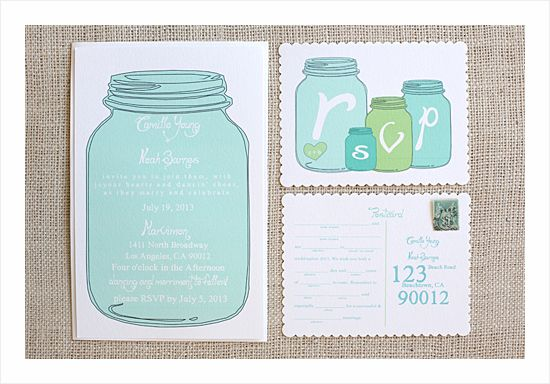 New Mason Jar Wedding Invitation Suite Free Printable Wedding - Free mason jar wedding invitation templates