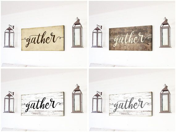 20% Off - Gather Sign Large Gather Sign Housewarming Gift Gather
