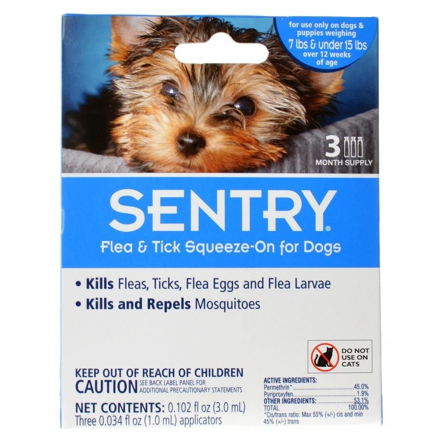 Sentry Flea Tick Squeeze On For Dogs Small 3 Count Dogs 7