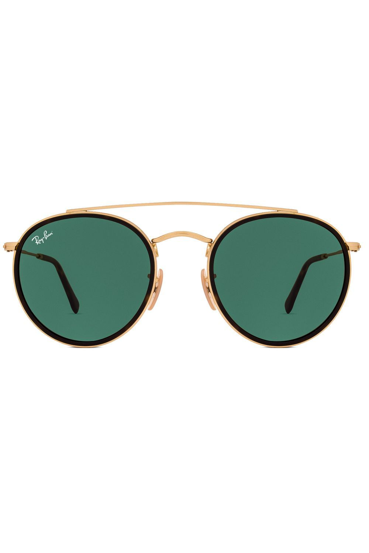 Óculos de Sol Ray Ban Round Double Bridge RB3647N 001-51   Pinterest ... fa66b32876