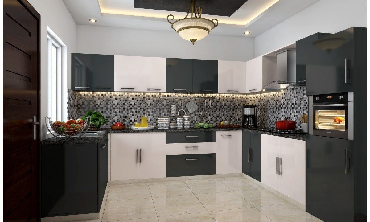 Shop For Yin Yang U Shape Modular Kitchen Online In India Great Interior Designs One Click Away Kitchendesigninindia Kitchen Design Small Space