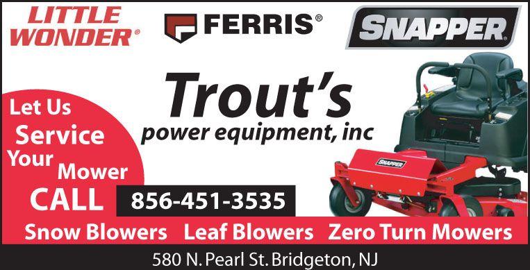 Trout S Power Equipment Inc Power Bridgeton Zero Turn Mowers