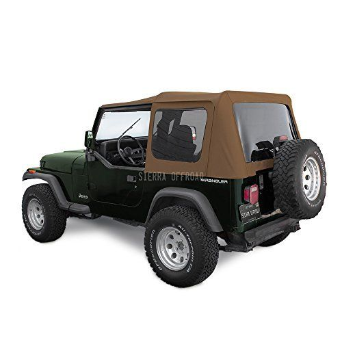 Sierra Offroad Spice Jeep Yj Factory Style Soft Top With Tinted Windows Jeep Wrangler Yj Jeep Wrangler Soft Top