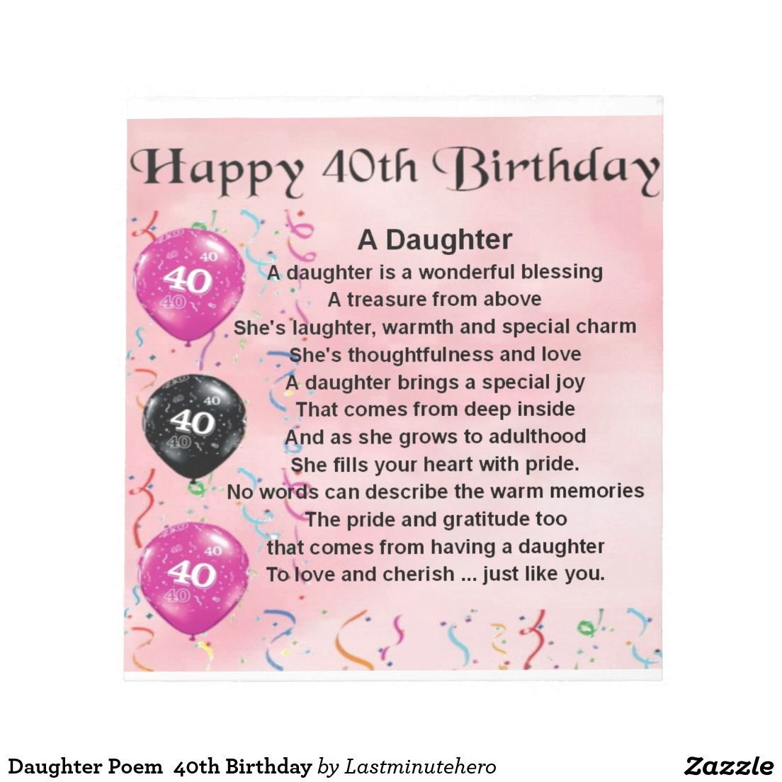Daughter 40th Birthday Google Search 40th Birthday Quotes Birthday Poems For Daughter Happy 40th Birthday