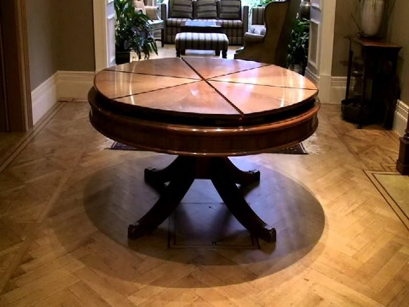 Great Furniture, Luxury Round Expandable Dining Table Design Ideas As Luxury Round  Dining Table On Herringbone Wooden Flooring Design Ideas ~ Concise Round ... Part 9