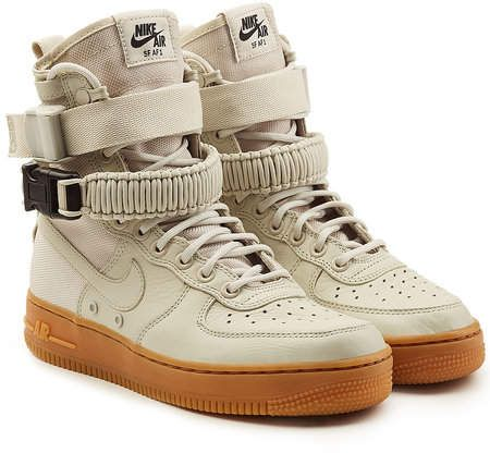 Nike Sf Air Force 1 High Top Sneakers With Leather Ayakkabilar