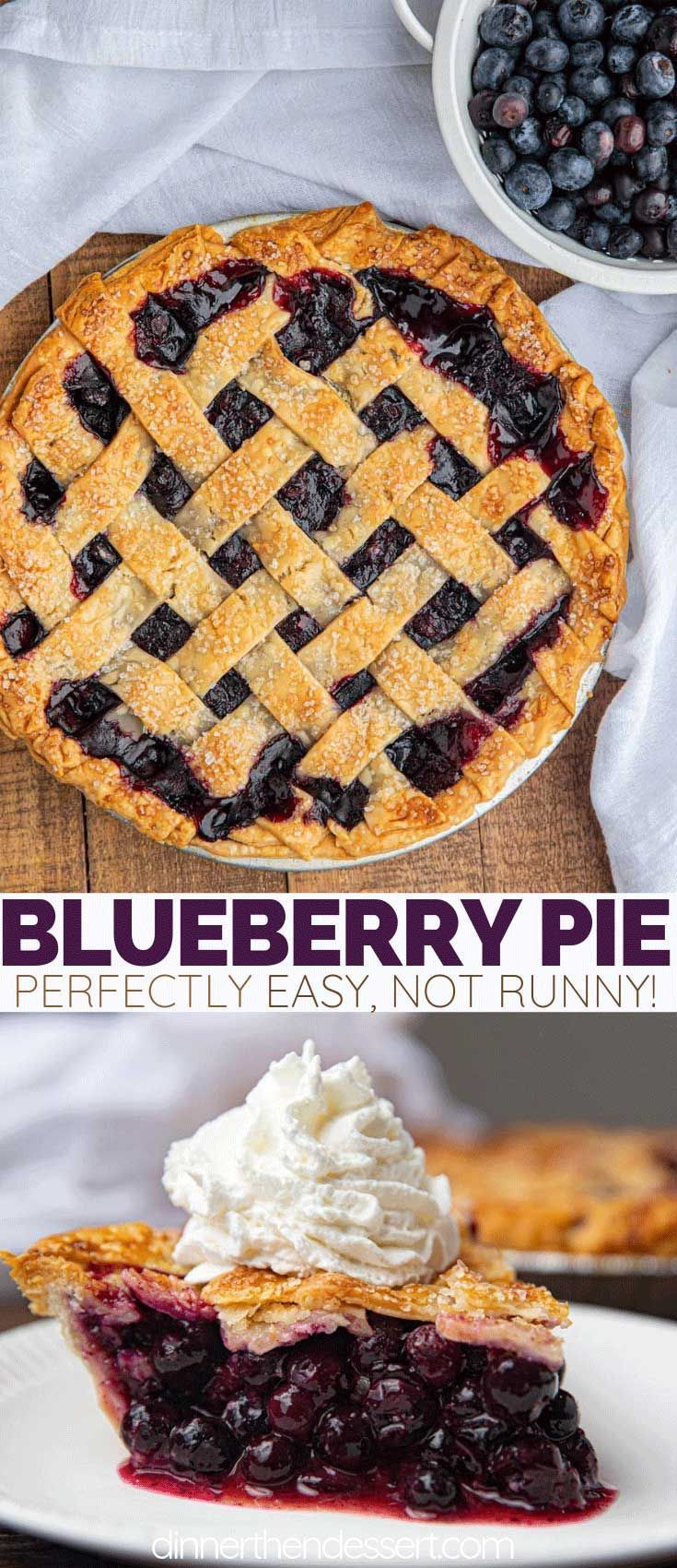 Blueberry Pie is the classic dessert favorite made with fresh blueberries, a lat... - Pie is the classic dessert favorite made with fresh blueberries, a lat... -