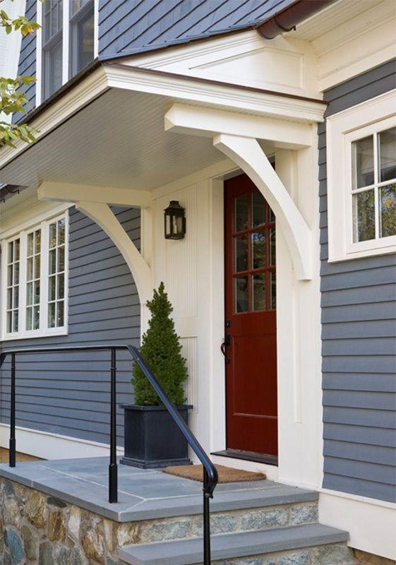 Back Door House Exterior Door Overhang House Front