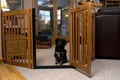 Wooden Walk Through Pet Gate Free