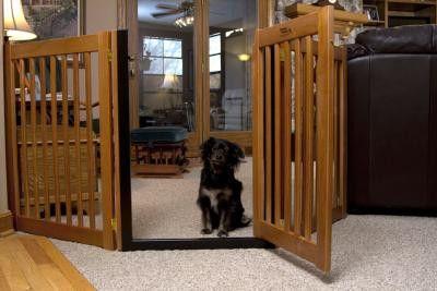 Wooden Walk Through Pet Gate Free Standing Pet Gate Dog Gate