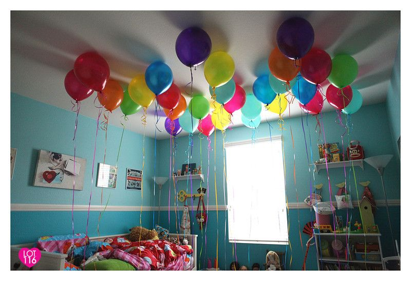 waking up to Birthday balloons :)
