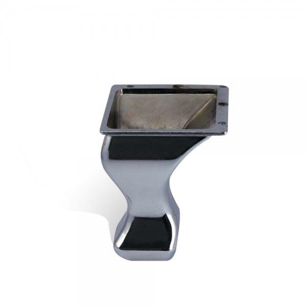 'Cabriole 90' Chrome Plated Metal Leg