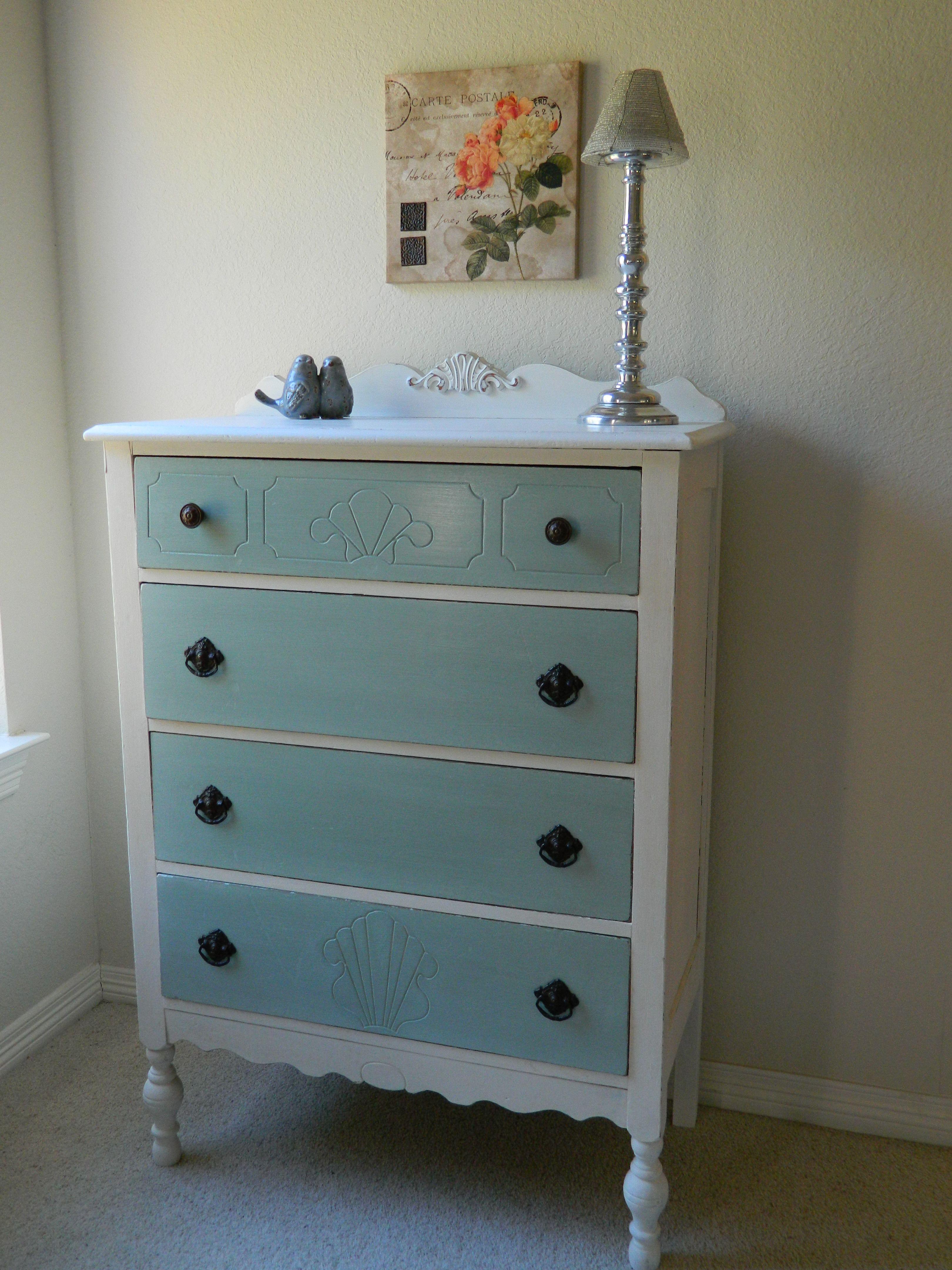 Blue And White Dresser Black S