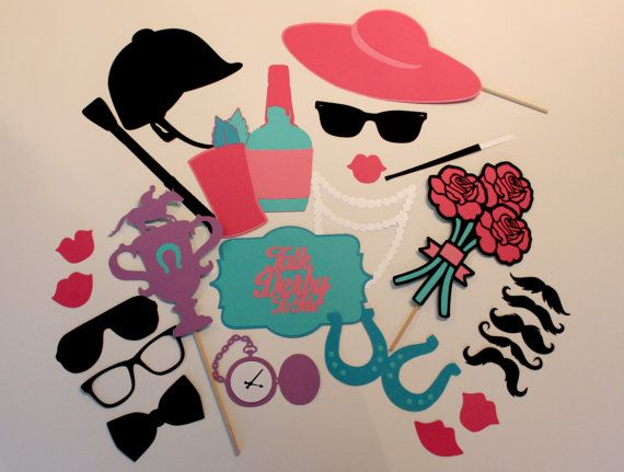 Preppy Kentucky Derby Photo Booth Props Set By Paperandpancakes
