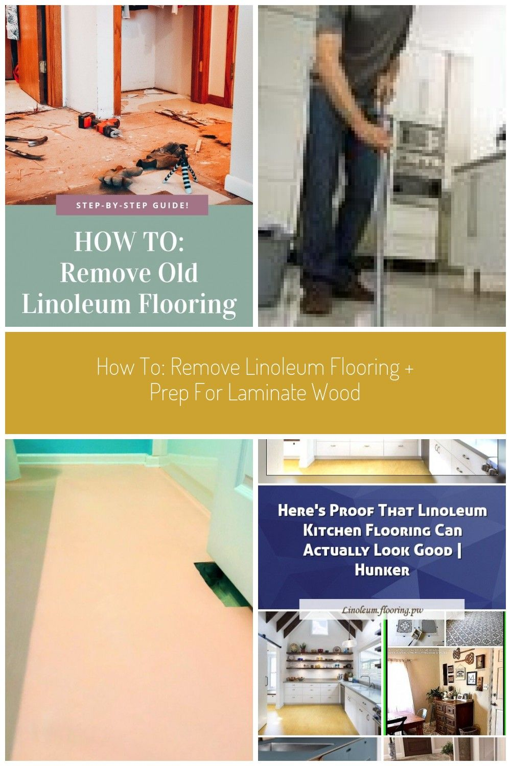 Step by step guide on how to remove linoleum flooring to