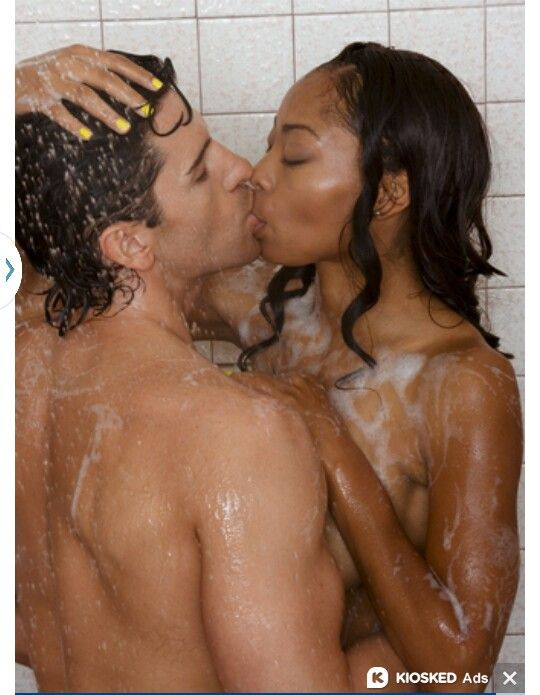 Excited too Interracial couples in shower