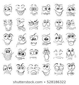 Cartoon Face Emotion Set Various Facial Stock Vector (Royalty Free) 513507949