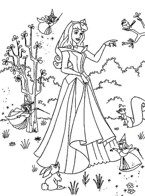characters walt disney sleeping beauty coloring pages - Sleeping Beauty Coloring Pages Free