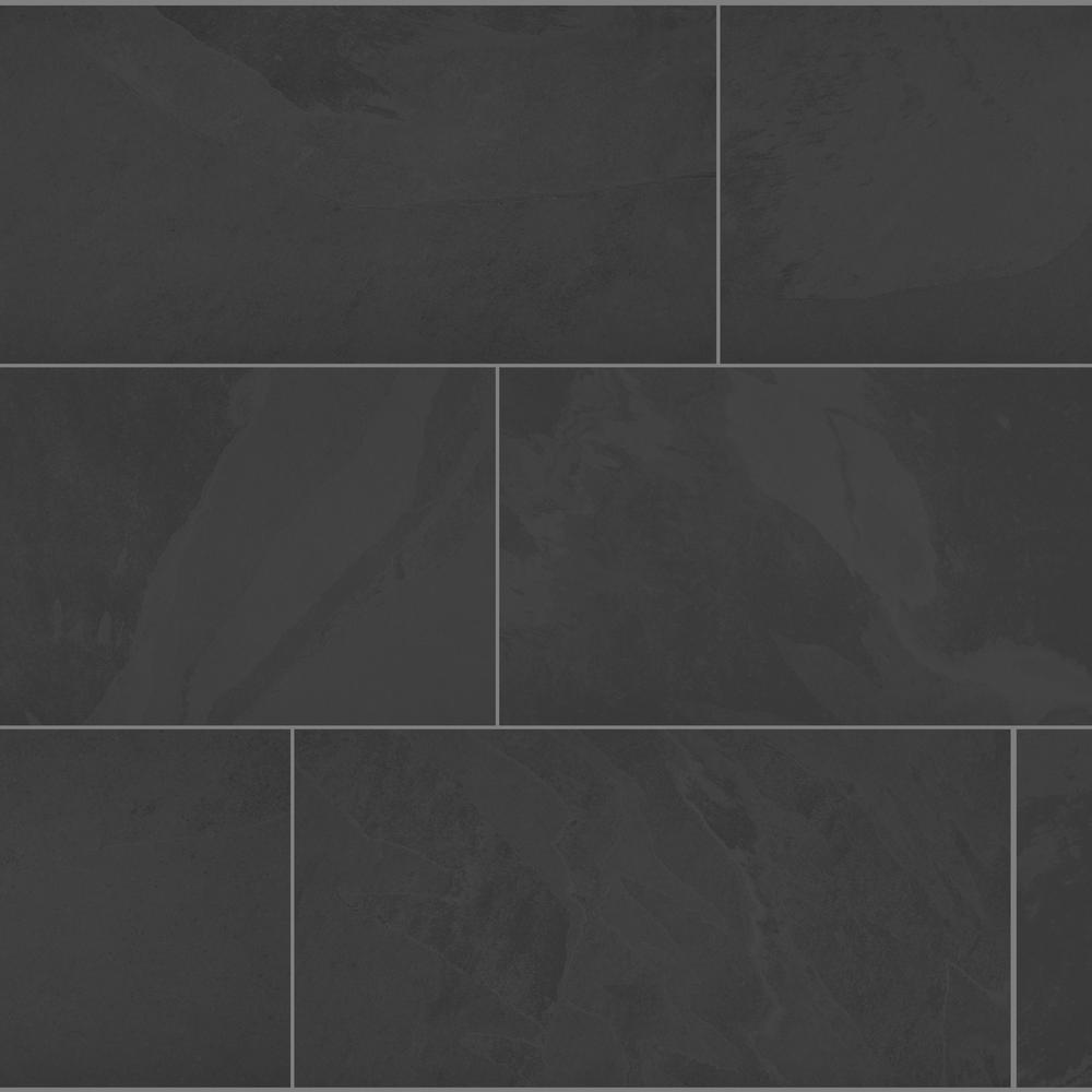 Florida Tile Home Collection Galactic Slate 12 In X 24 In Porcelain Floor And Wall Tile 13 62 Sq Ft Case Chdeglx1012x24 The Home Depot In 2020 Porcelain Flooring Flooring Floor And Wall Tile