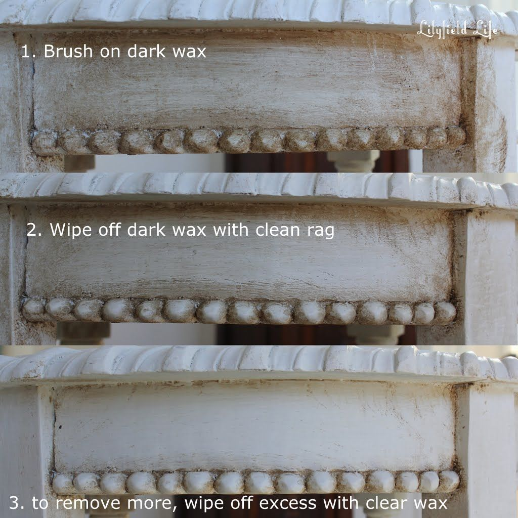 Starters' Guide: how to Antique Painted Furniture using Dark Wax - Starters' Guide: How To Antique Painted Furniture Using Dark Wax