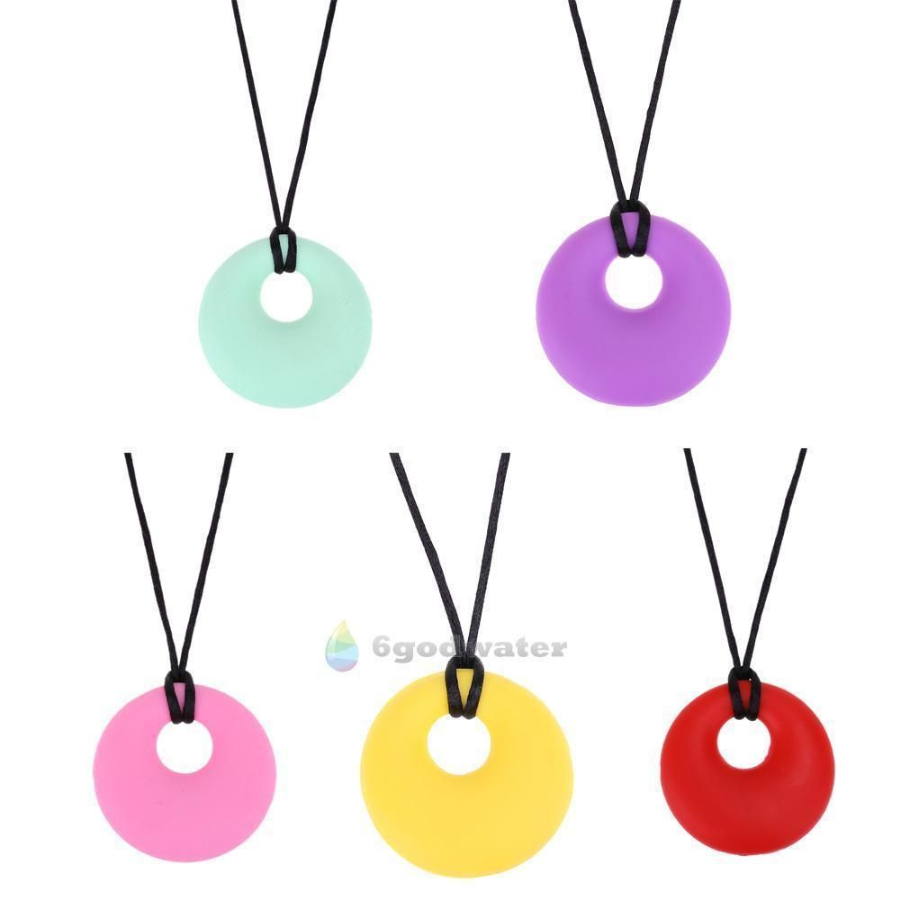 BPA Free Baby Silicone Teething Necklace Safe Kids Teether Nursing Pendant Beads