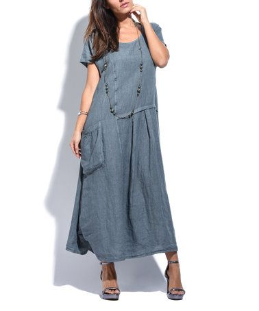 Charmant This Anthracite Side Pocket Linen Maxi Dress By Couleur Lin Is Perfect!  #zulilyfinds