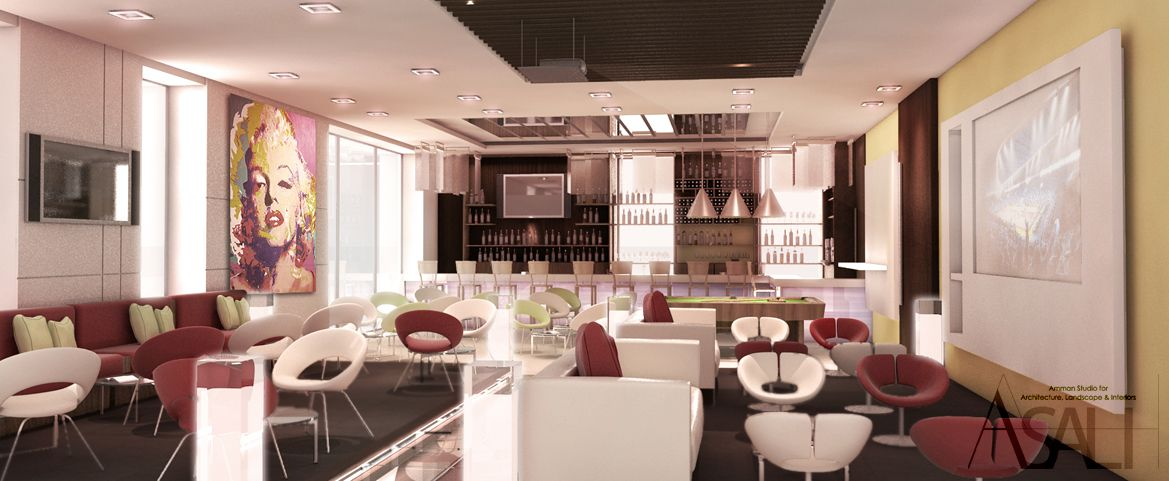 Interior Design For The Ibis Hotel IBar  Amman (This Project Was Done On A