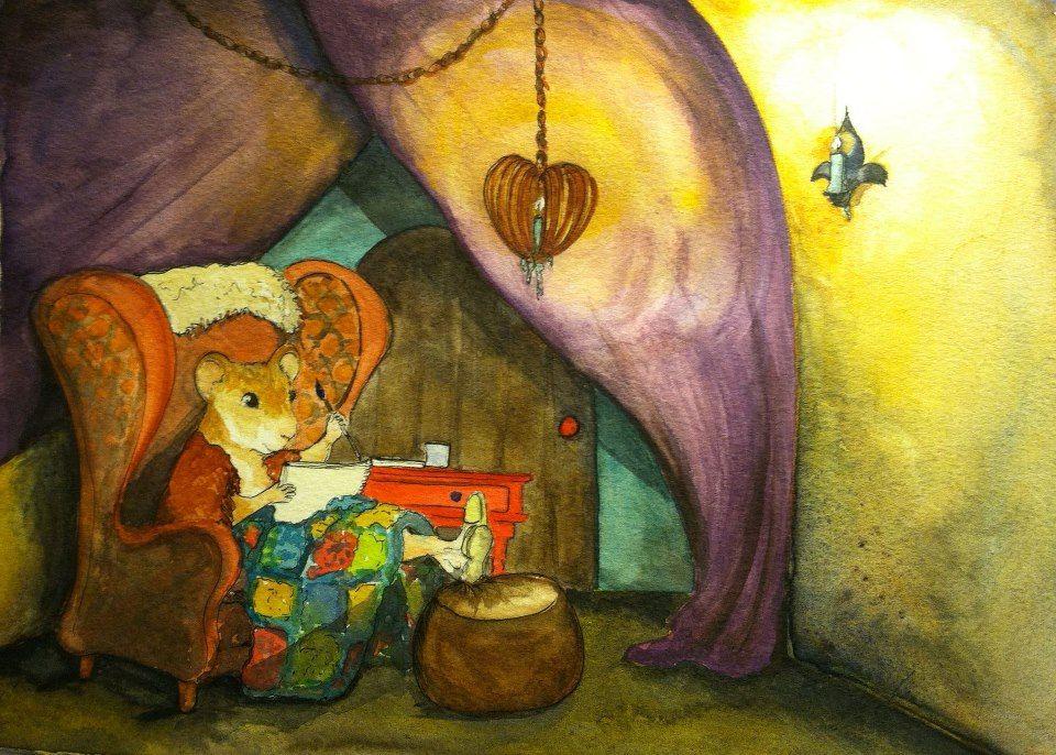ginger small, caravan life, life on the road, cozy, kidlitart, illustration, hamster life, childrens book