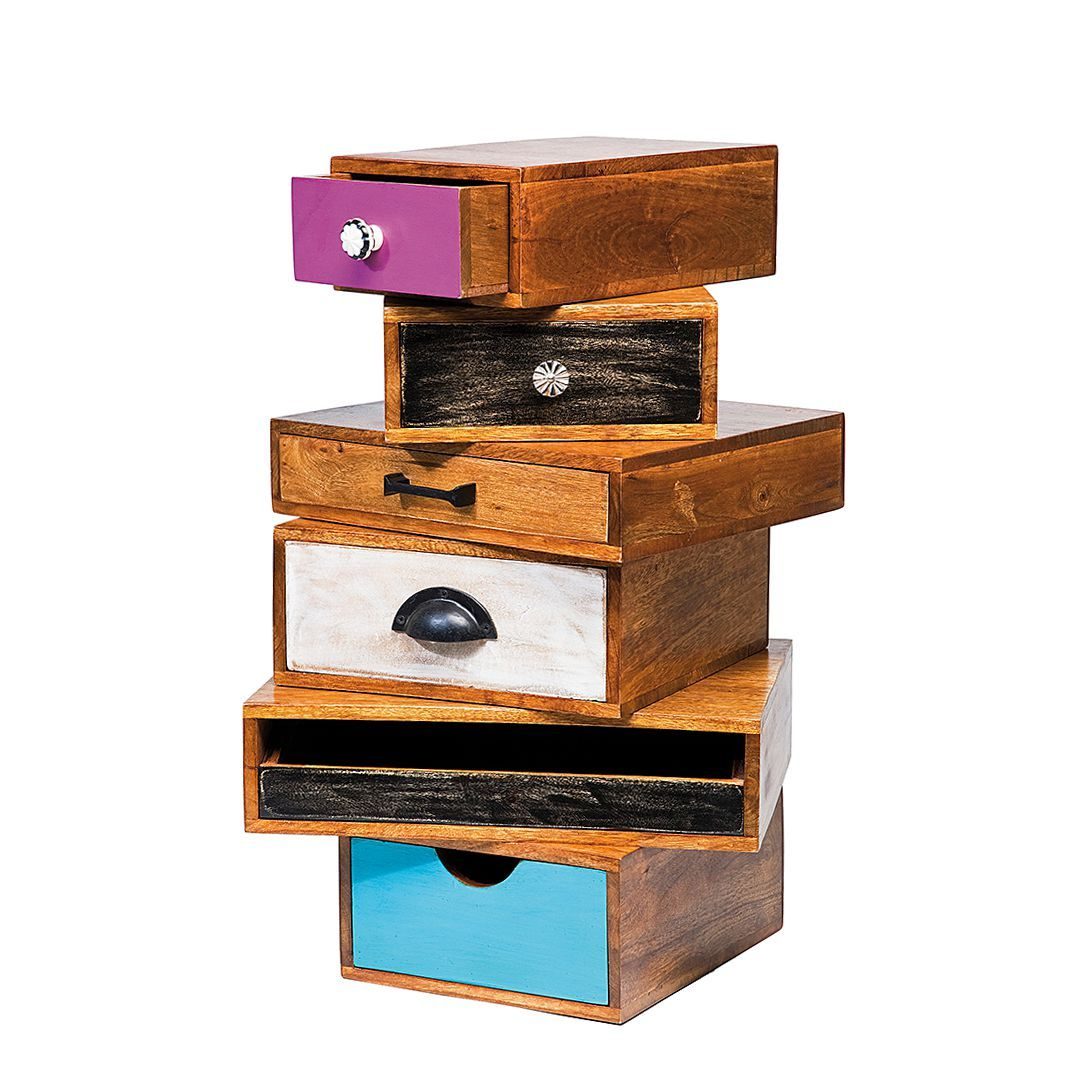 Schubladenkombination Babalou - Holz Mango lackiert, Kare Design ...
