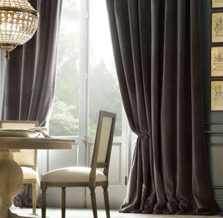 Gray Velvet Curtains Traditional Curtains Curtains Living Room Velvet Curtains