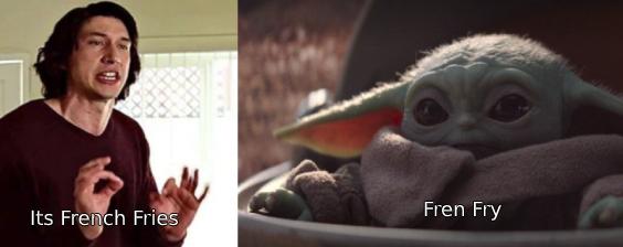 Fren Dry Babyyoda Star Wars Jokes Star Wars Humor Star Wars Memes
