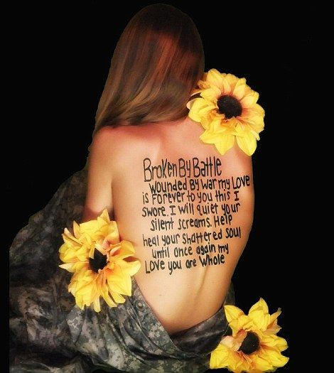 My Newest Tattoo She Is A Soldier In The War Against: Army Wives Strip Off To Show Their Support: Awareness