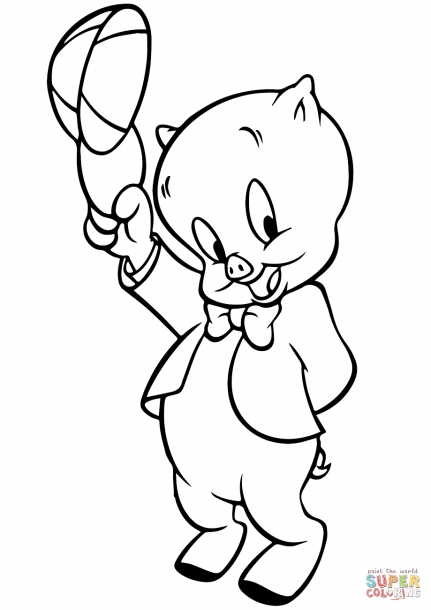 Porky Pig Coloring Pages Cartoon Coloring Pages Coloring Books Disney Coloring Pages