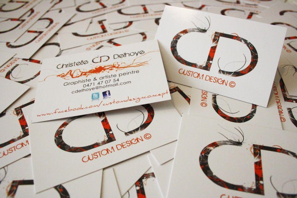 Cartes De Visite CD Custom Design Christelle Delhoye